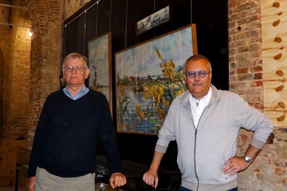 François Boddaert en Dirk Verlinden in de Pozzozaal.