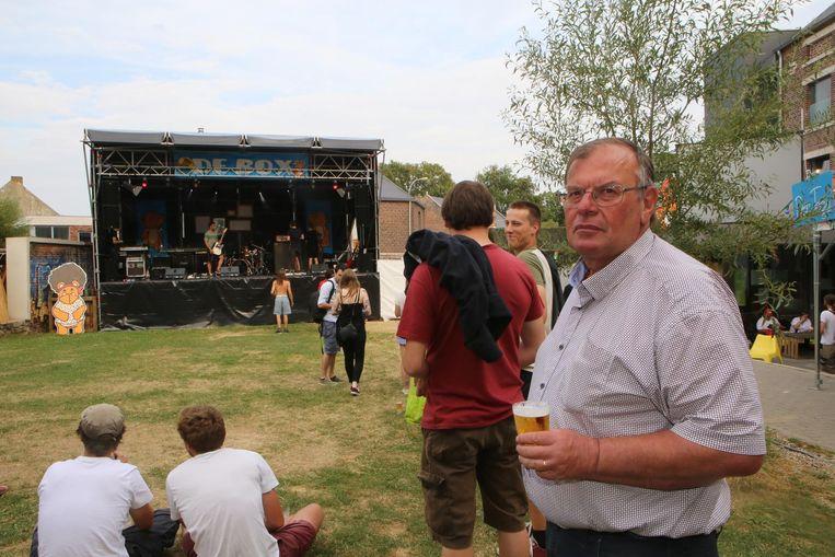 Michel Evers op het festivalterrein van Paenhuys Park.