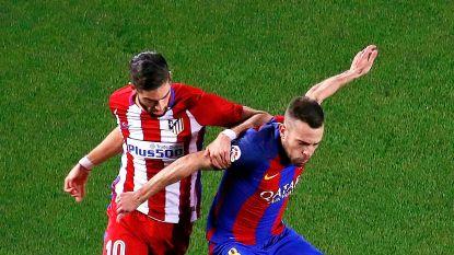 Carrasco voor deze late tackle op Arda van het veld gestuurd, Barça knikkert Atletico uit beker