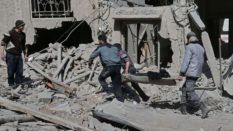 In een tijdsbestek van een week zijn ongeveer 500 personen omgekomen in Oost-Goutha. Beeld afp