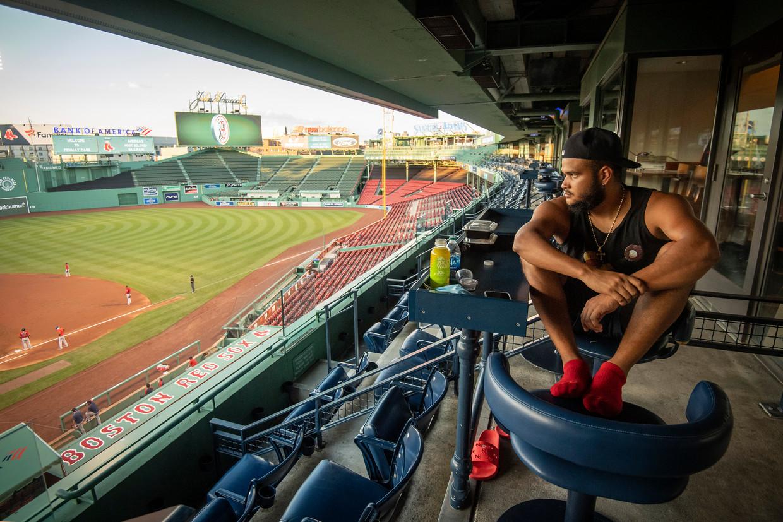 Honkballer Eduardo Rodriguez bleef na een corona-infectie extreem moe waarna bleek dat hij een ontstoken hartspier heeft.  Beeld Getty Images