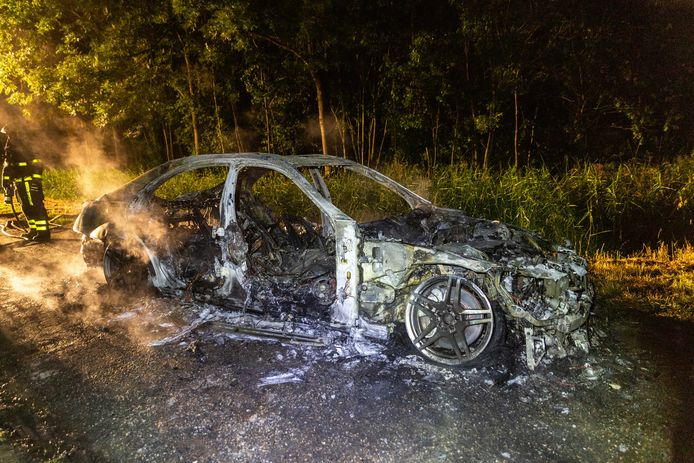 Autobrand in Oosterhout
