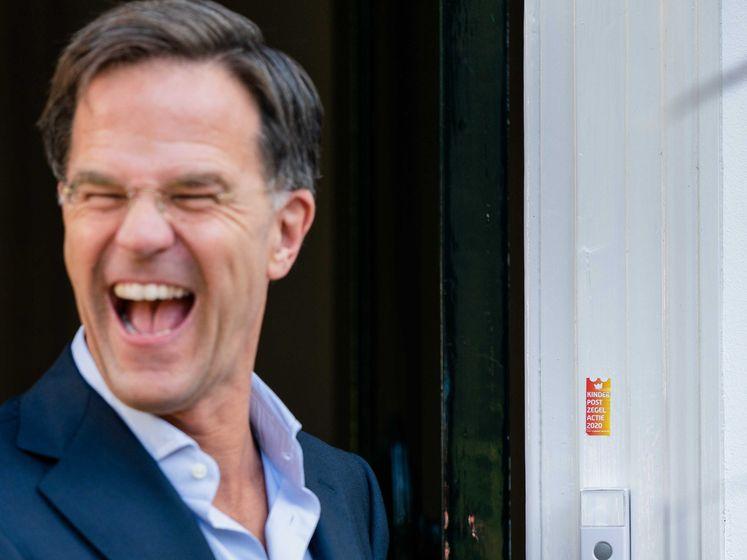 Kinderpostzegelweek in coronatijd, Rutte neemt eerste in ontvangst