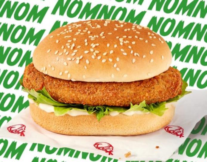 De Chickenless Chicken Burger van KFC.