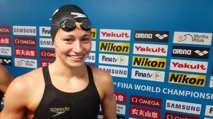 """Valentine Dumont sluit haar WK af met nieuw Belgisch record op 100m vrij: """"Hard trainen is beloond"""""""
