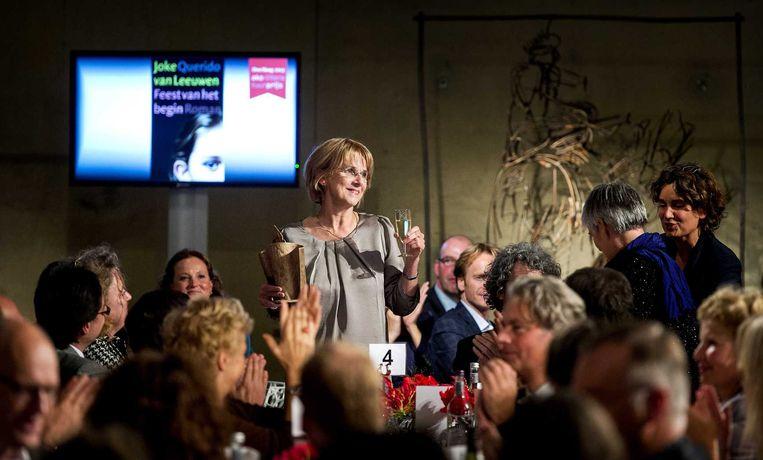 Joke van Leeuwen, winnares van de AKO Literatuurprijs 2013. Beeld anp