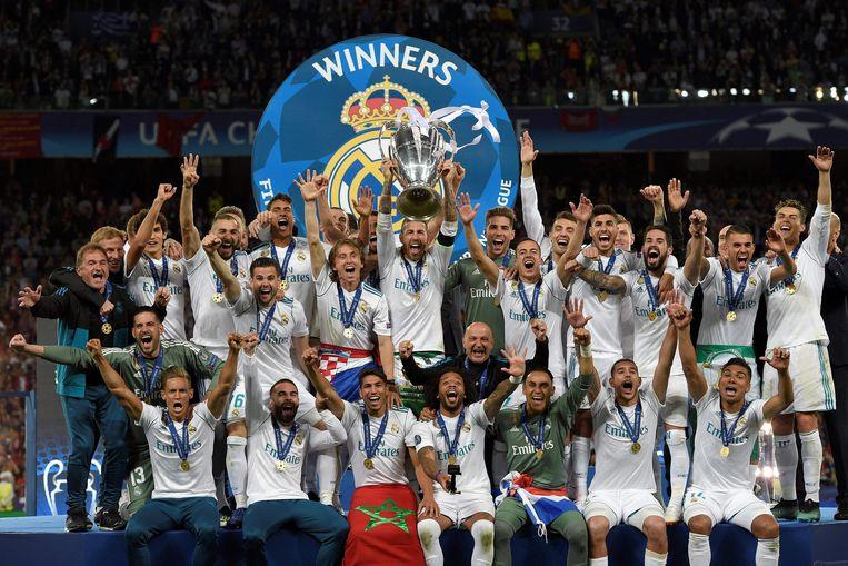 Real won in Kiev de Champions League voor de derde opeenvolgende keer.