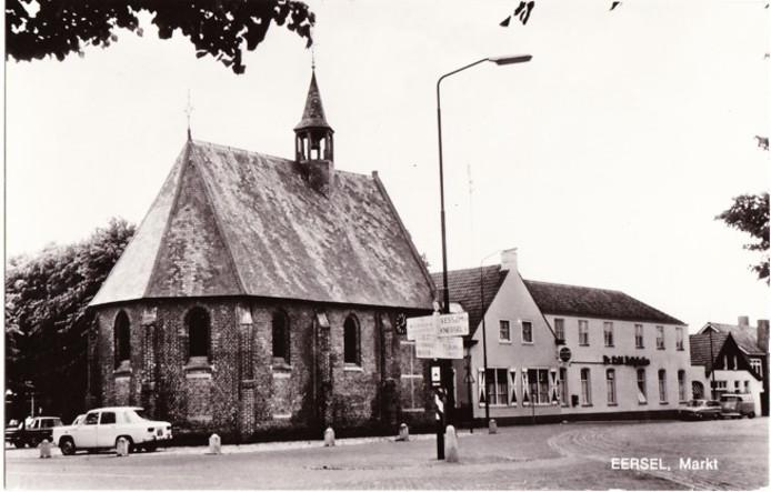 Het dorpscentrum van Eersel vroeger.