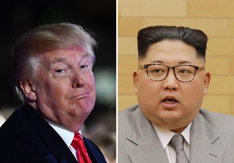 Donald Trump en Kim Jong-un