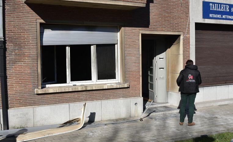 Anderlecht brand 4 gewondenin de Puccinistraat