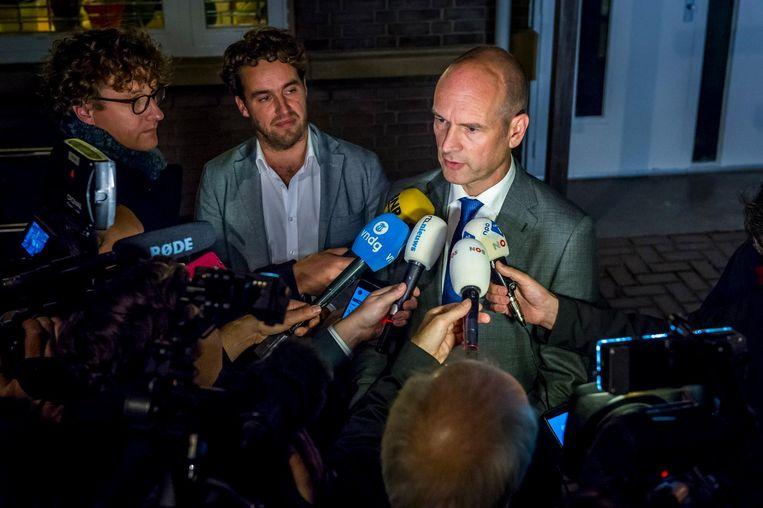 ChristenUnie-leider Gert-Jan Segers maandagavond, nadat zijn fractie akkoord ging. Beeld anp
