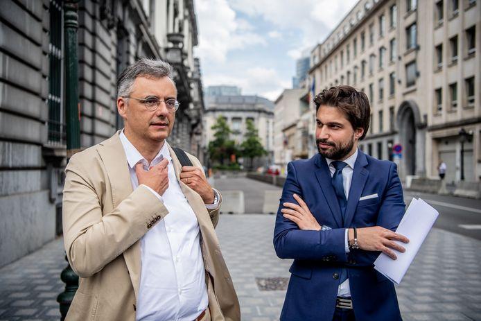 Georges-Louis Bouchez et Joachim Coens.
