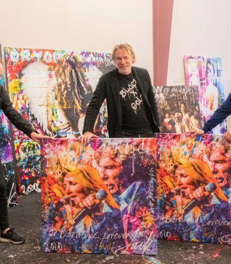 Apeldoornse kunst bij Froger en Forsyth aan de muur: Engelse wereldster in tranen als ze haar doek ziet