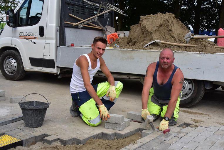 Kenneth en Pirre waren even verderop aan het werk.