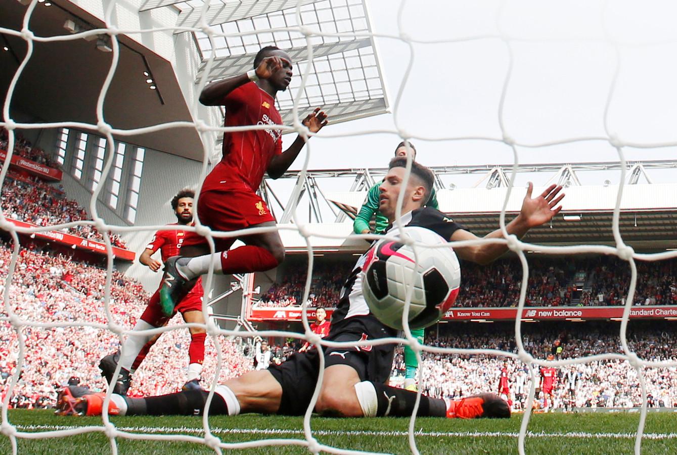 Sadio Mané maakt de 2-1.