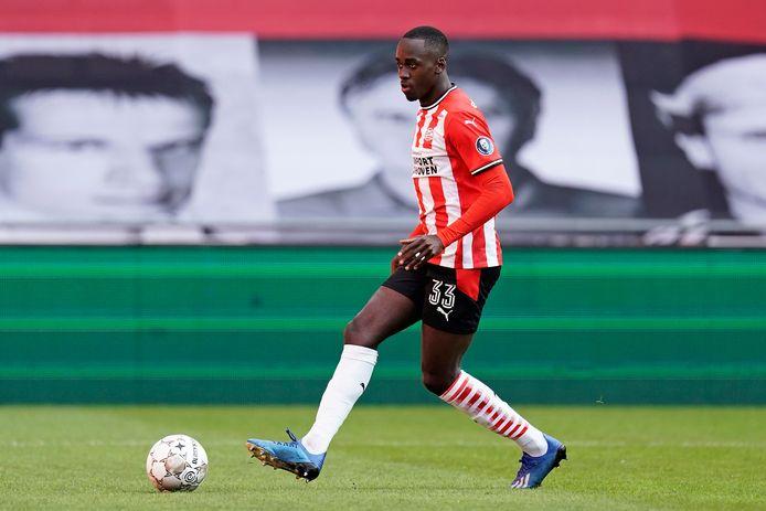 Jordan Teze tijdens PSV-Fortuna Sittard.