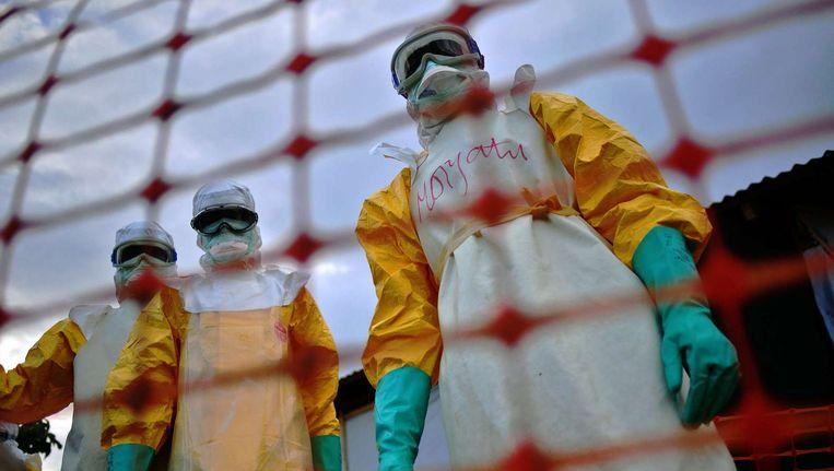 Het ebolavirus is uit Sierra Leone verdwenen. Beeld afp