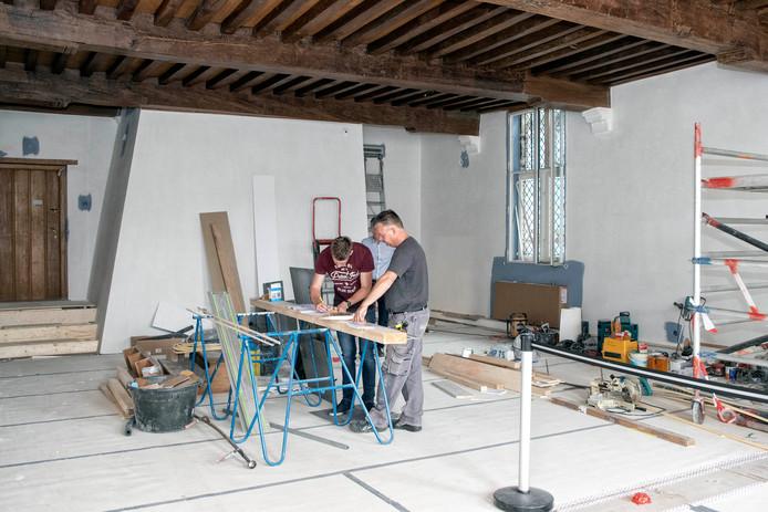 Voor de bouwvakvakantie moeten de Schatkamers  van Het Markiezenhof gereed zijn.