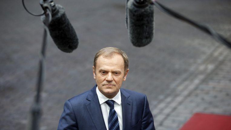 EU-president Donald Tusk waarschuwde om 'niet te naïef'' te zijn. Beeld EPA