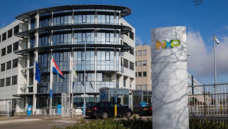 Exterieur van het hoofdkantoor van NXP, de voormalige chipdivisie van Philips. Beeld anp