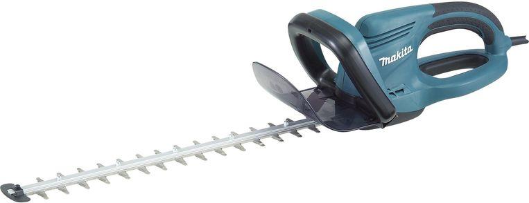 Geschikt voor links- en rechtshandigen, en voorzien van een elektrische rem om ongelukken te voorkomen: deze heggenschaar van Makita.