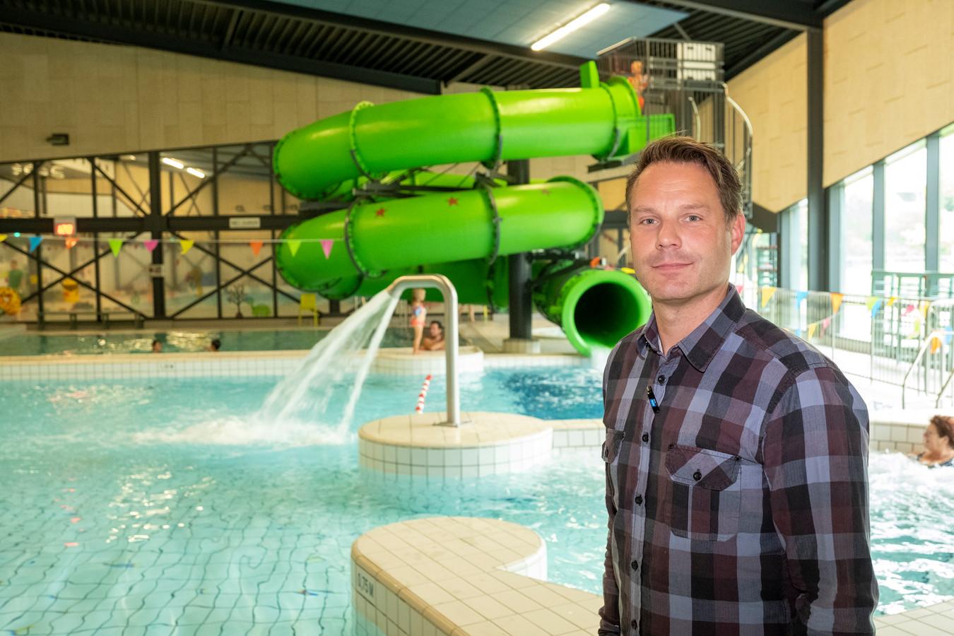 Daniël Brinkman, manager van zwembad De Koekoek in Vaassen.