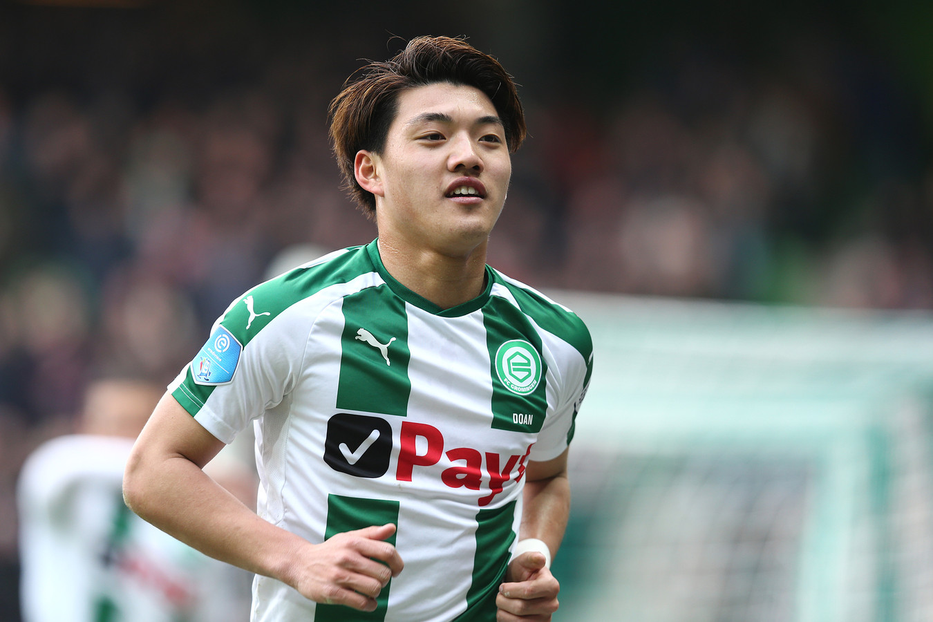 Ritsu Doan in het shirt van FC Groningen.