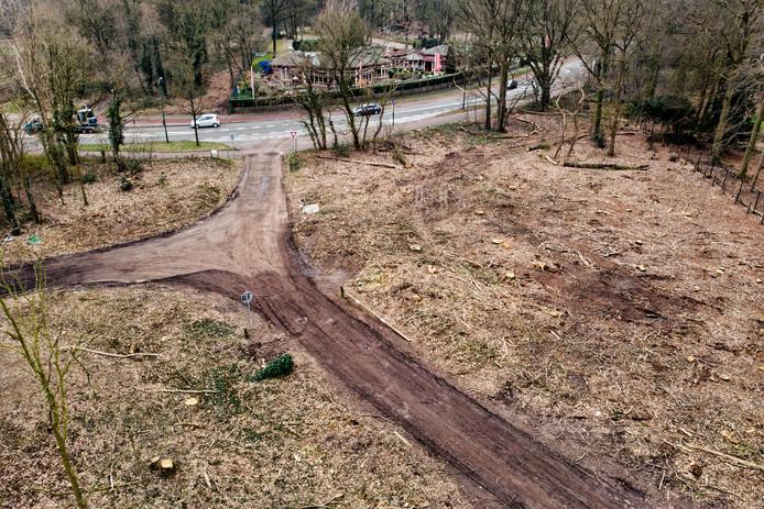 1383 bomen zijn geveld voor de eerste fase van het rondwegproject.