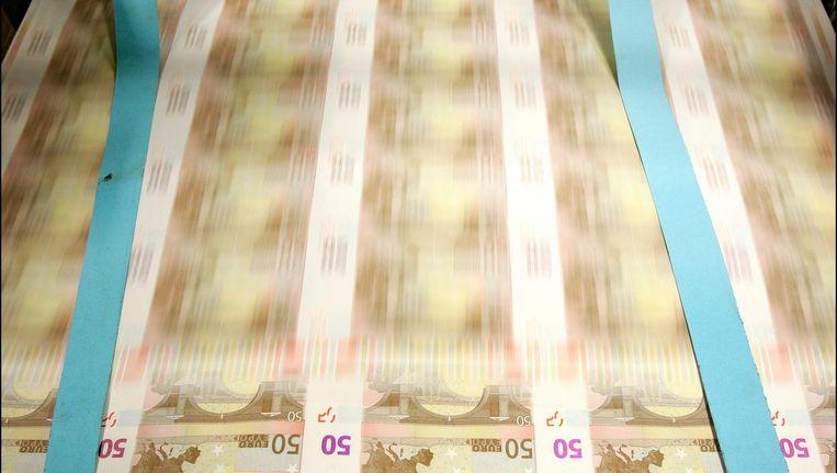 (Achrieffoto 2006) Het drukken van eurobiljetten bij drukkerij Johan Enschede in Haarlem. Beeld anp