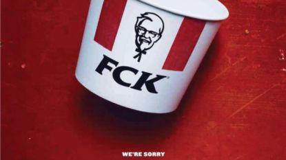 FCK! Gevatte excuses Kentucky Fried Chicken voor kipcrisis