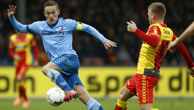 Ook aanvoerder Jens Toornstra kon het verschil voor Utrecht niet maken. Beeld anp