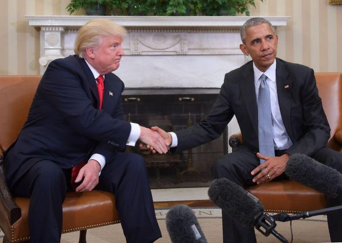 Het heeft nooit geboterd tussen Barack Obama en Donald Trump.