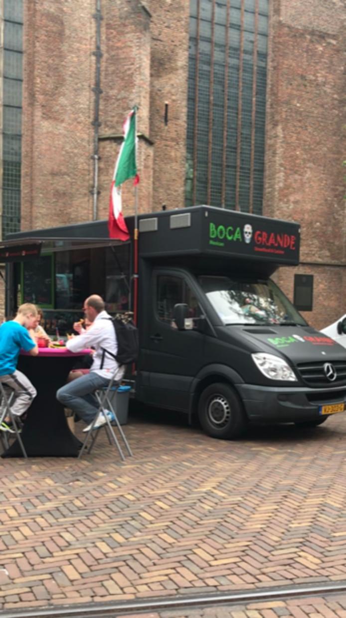 Foodtruck Boca Grande van Tim van der Linden uit Helmond, hier op locatie in Den Haag.