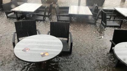 Noodweer barst los in Limburg: zware wateroverlast in Bree, toestand nu onder controle