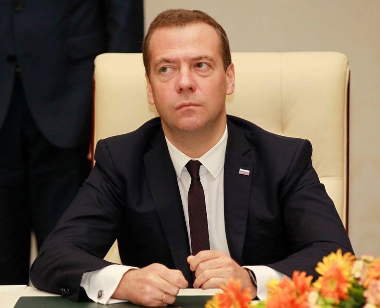 Russische premier Dmitri Medvedev Beeld epa