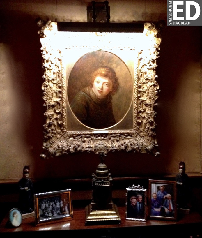 Een foto van het schilderij dat gestolen werd uit huize De Laak in Eindhoven.