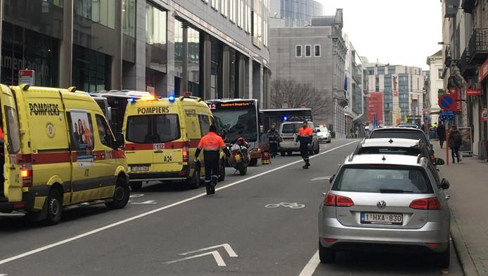 Plusieurs personnes ont été blessées dans un accident de la route impliquant notamment trois bus de la Stib près de la place du Luxembourg à Ixelles.