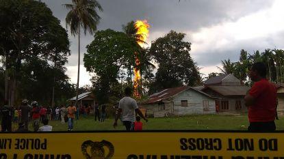 Zeker tien doden en tientallen gewonden door brand in illegale olieput in Indonesië