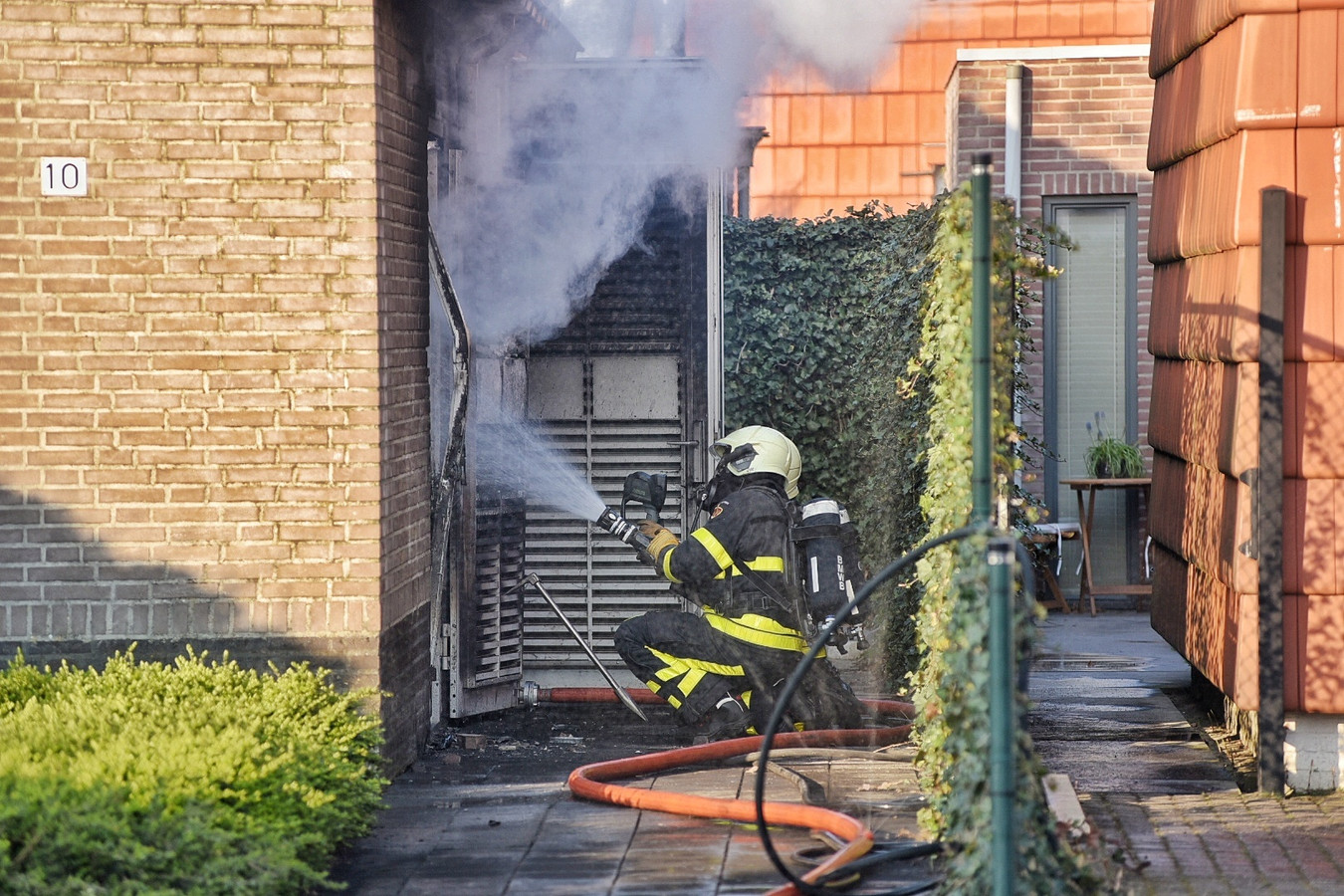 Brand in transformatorhuisje in Dongen