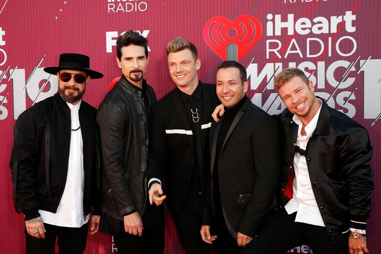 De Backstreet Boys: AJ McLean, Howie Dorough, Nick Carter, Brian Littrell en Kevin Richardson.