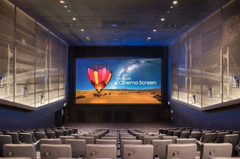 Samsungs Wall-concept in een bioscoopopstelling.