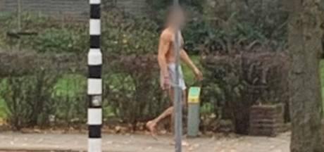 Politie houdt halfnaakte man aan in Arnhem