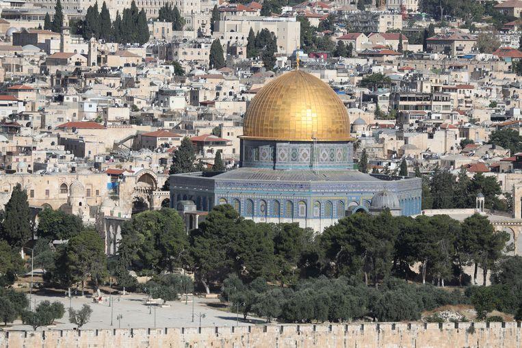 Uitzicht op de Al Aksa-moskee in Jeruzalem. Beeld EPA