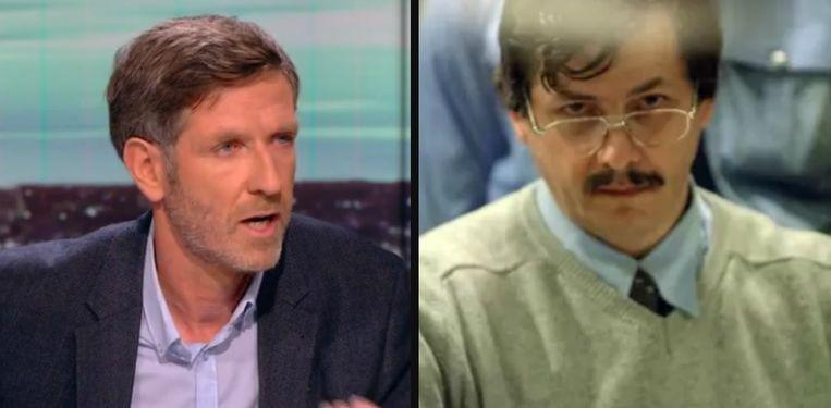 Links: advocaat Bruno Dayez. Rechts: Marc Dutroux.