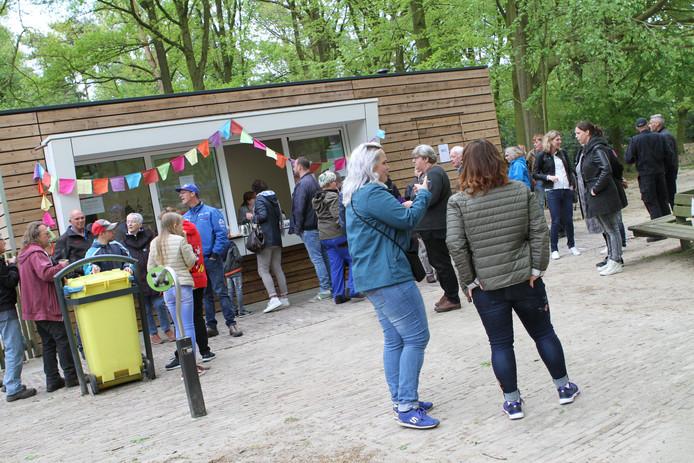 De kiosk bij de kinderboerderij tijdens de officiële opening in 2018