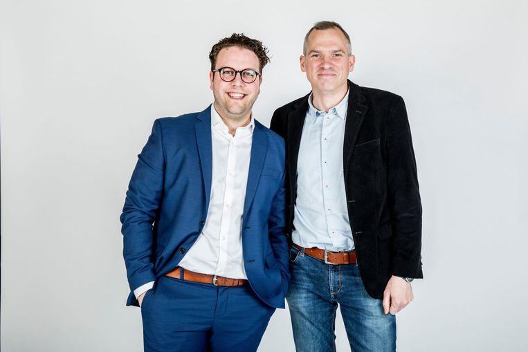 David Vandekerkhove (links) is de adjunct-woordvoerder van Vlaams minister Matthias Diependaele.