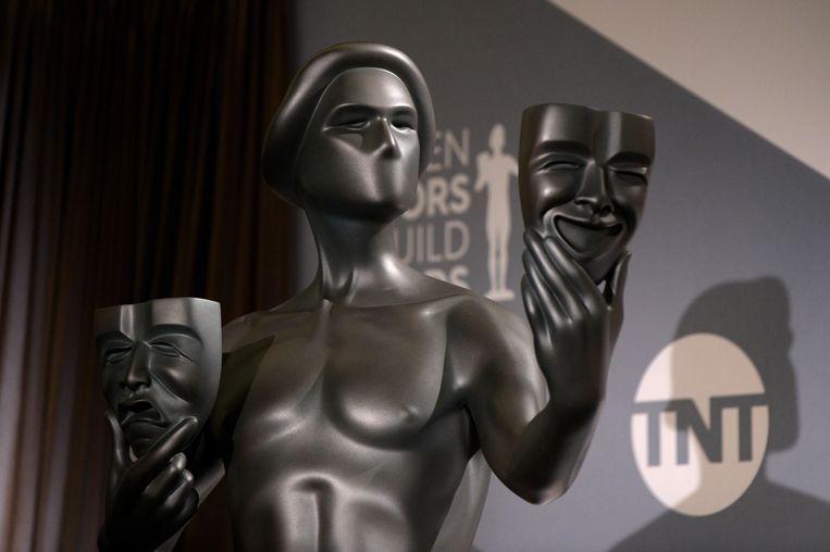 Een standbeeld van een Screen Actors Guild Award.