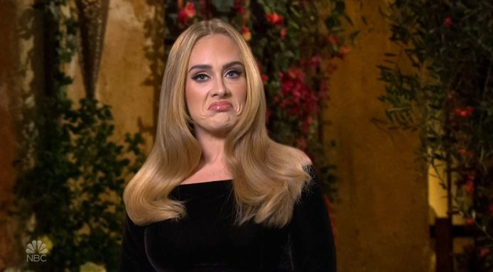 Adele tijdens 'Saturday Night Live'