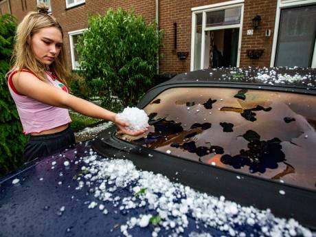 Helse hagelbui zorgt voor ravage in Deventer: 'Dit is echt niet normaal'