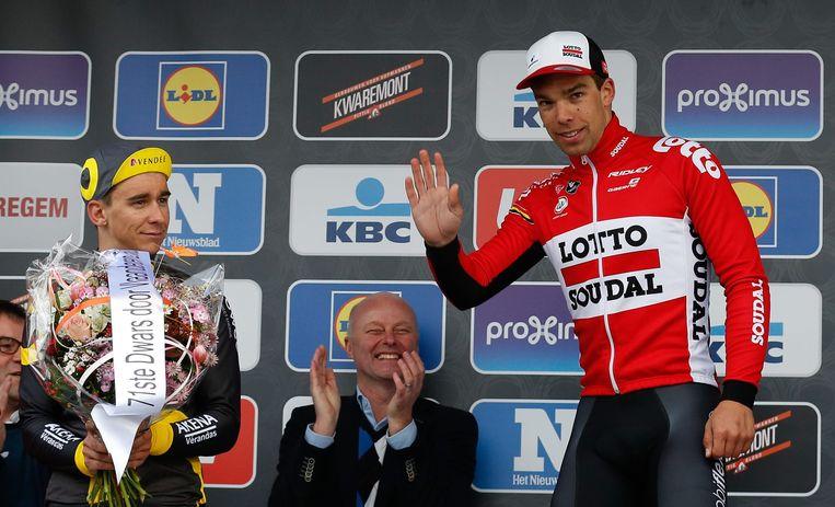 Debusschere bij zijn winst in Dwars door Vlaanderen in 2016.